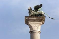 Φτερωτό λιοντάρι στη Βενετία Ιταλία Ευρώπη Στοκ Φωτογραφία