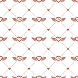 Φτερωτό σχέδιο καρδιών Στοκ Εικόνες