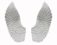Φτερό αγγέλου που απομονώνεται στο άσπρο υπόβαθρο Στοκ Εικόνα