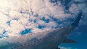 Φτερό αεροπλάνων κατά την πτήση απόθεμα βίντεο