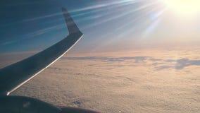 Φτερό αεροπλάνων κατά την πτήση φιλμ μικρού μήκους