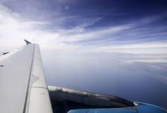 Φτερό αεροπλάνων ουρανού Στοκ εικόνες με δικαίωμα ελεύθερης χρήσης