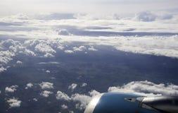 Φτερό αεροπλάνων ουρανού Στοκ εικόνα με δικαίωμα ελεύθερης χρήσης
