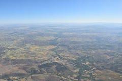 Φτερό αεροπλάνων στον ουρανό Στοκ Εικόνα