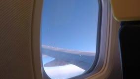 Φτερό αεροσκαφών μέσω της παραφωτίδας απόθεμα βίντεο
