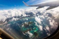 Φτερό ενός αεροπλάνου στοκ φωτογραφία