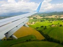 Φτερό ενός πετάγματος αεροπλάνων Στοκ Εικόνες