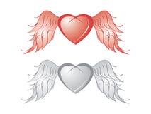 φτερό καρδιών Στοκ Εικόνες