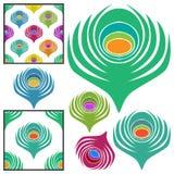 φτερό συλλογής peacock Στοκ Εικόνα