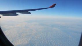 Φτερό του αεροπλάνου από το παράθυρο απόθεμα βίντεο