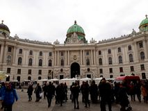 Φτερό του ST Michael ` s του αυτοκρατορικού παλατιού Hofburg Βιέννη στοκ εικόνα