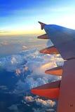 φτερό όψης αεροπλάνων αεριωθούμενων αεροπλάνων στοκ εικόνα με δικαίωμα ελεύθερης χρήσης
