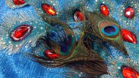 Φτερό Peacock στη διακόσμηση Στοκ εικόνα με δικαίωμα ελεύθερης χρήσης