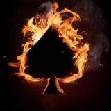 φτυάρια πυρκαγιάς καρτών Στοκ εικόνες με δικαίωμα ελεύθερης χρήσης