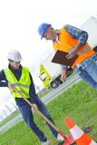 Φτυάρι εκμετάλλευσης εργατών οικοδομών Στοκ εικόνα με δικαίωμα ελεύθερης χρήσης