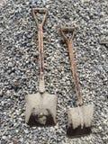 Φτυάρι και πέτρα Στοκ εικόνες με δικαίωμα ελεύθερης χρήσης