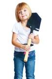 Φτυάρι μικρών κοριτσιών Στοκ Εικόνες
