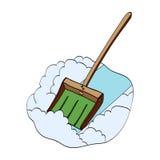 Φτυάρι χιονιού Διανυσματική συρμένη χέρι απεικόνιση Στοκ εικόνα με δικαίωμα ελεύθερης χρήσης