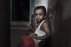 Φτωχά παιδιά από την παλαιά πόλη Godaulia Στοκ Εικόνες