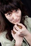 φτωχή γυναίκα επαιτών Στοκ φωτογραφία με δικαίωμα ελεύθερης χρήσης