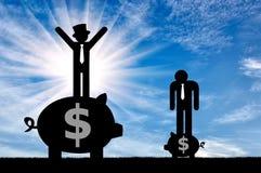 Φτωχοί και πλούσιοι επίπεδοι άνθρωποι εικονιδίων Στοκ Εικόνα