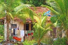 φτωχοί σπιτιών Καλύβα Νότια Ινδία Στοκ εικόνες με δικαίωμα ελεύθερης χρήσης