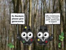 Φτωχοί τραπεζίτες διανυσματική απεικόνιση