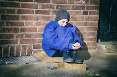 Φτωχό αγόρι Στοκ εικόνες με δικαίωμα ελεύθερης χρήσης