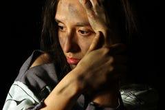 Φτωχό βρώμικο κορίτσι Στοκ εικόνες με δικαίωμα ελεύθερης χρήσης