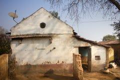 Φτωχό ινδικό οικιακό αγρόκτημα 2 Άντρα Πραντές, Anantapur Στοκ Εικόνες