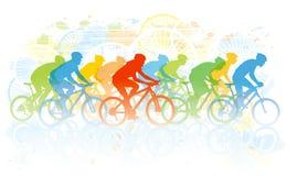Φυλή ποδηλάτων απεικόνιση αποθεμάτων