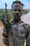 Φυλή Karo στην κοιλάδα Omo, Αιθιοπία στοκ φωτογραφία με δικαίωμα ελεύθερης χρήσης