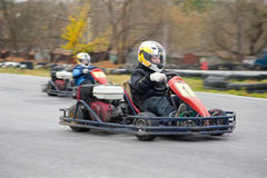 Φυλή Karting Στοκ εικόνα με δικαίωμα ελεύθερης χρήσης