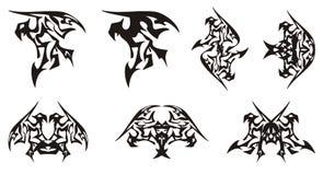Φυλετικά σύμβολα αετών στη μορφή δράκων Στοκ φωτογραφία με δικαίωμα ελεύθερης χρήσης