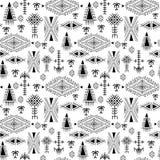 Φυλετικό άνευ ραφής σχέδιο - ντόπιος Berber, εθνική καταγωγή με τα πρωτόγονα στοιχεία διανυσματική απεικόνιση