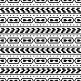 Φυλετικό άνευ ραφής σχέδιο - των Αζτέκων άσπρο υπόβαθρο Στοκ Εικόνες