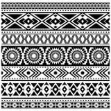 Φυλετικό άνευ ραφής σχέδιο, των Αζτέκων γραπτό υπόβαθρο Στοκ φωτογραφία με δικαίωμα ελεύθερης χρήσης