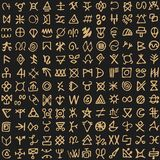 Φυλετικό σχέδιο με συμβόλων το αρχαίο υπόβαθρο απεικόνισης ύφους εκλεκτής ποιότητας απεικόνιση αποθεμάτων