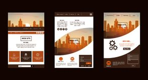 Φυλλάδιο πόλεων infographic ελεύθερη απεικόνιση δικαιώματος