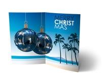 Φυλλάδιο σφαιρών Χριστουγέννων, απεικόνιση καρτών Στοκ Εικόνες