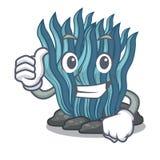 Φυλλομετρεί επάνω το μπλε φύκι που απομονώνεται στο χαρακτήρα ελεύθερη απεικόνιση δικαιώματος
