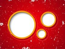Φυσαλίδες στην κόκκινη ανασκόπηση grunge Στοκ Εικόνα