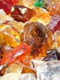 Φυσαλίδες στον πορτοκαλή βράχο γυαλιού Στοκ Εικόνα