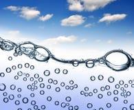 Φυσαλίδες ύδατος Στοκ εικόνα με δικαίωμα ελεύθερης χρήσης