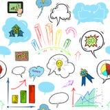 Φυσαλίδα επιχειρήσεων και ομιλίας, σχέδιο χεριών Στοκ Φωτογραφίες