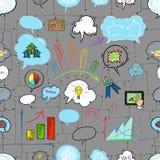 Φυσαλίδα επιχειρήσεων και ομιλίας, σχέδιο χεριών Στοκ εικόνες με δικαίωμα ελεύθερης χρήσης