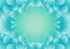 Φυσαλίδα με το μπλε υπόβαθρο Στοκ Φωτογραφίες