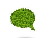 Φυσαλίδα που καλύπτεται λεκτική στα φύλλα Διανυσματική απεικόνιση