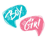 Φυσαλίδες αγοριών ή κοριτσιών για την κάρτα ντους μωρών Στοκ Εικόνες