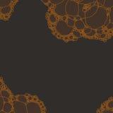 Φυσαλίδες αφρού στο σκοτεινό υπόβαθρο Στοκ Φωτογραφίες